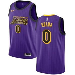 Los Angeles Lakers Kyle Kuzma Purple City Jersey